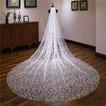Sequin voile de mariée cathédrale voile de queue voile de luxe scintillant 3M
