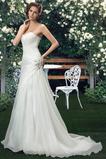 Robe de mariée Sommaire Rivage Sans Manches aligne col coeur Traîne Mi-longue