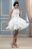Robe de mariée Longueur Genou A-ligne Balançoire Rectangulaire