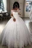 Robe de mariée Salle Traîne Moyenne Perle aligne Tulle Norme
