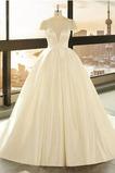 Robe de mariée Lacet Satin Printemps A-ligne Col en V Col en V Foncé