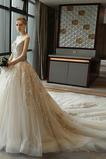 Robe de mariée Chaussez Sans Manches Manquant Eglise Naturel taille