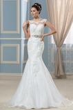 Robe de mariée Décolleté Dans le Dos Naturel taille Chic Été Ceinture en Étoffe
