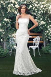 Robe de mariée Sirène Froid Traîne Courte Sans Manches Sexy Naturel taille