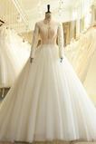 Robe de mariée Manche Longue Elégant Triangle Inversé Salle Printemps