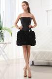Robe de Soirée Courte Zip Taffetas Ample Manquant Taille chute
