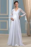 Robe de mariée Empire Printemps Longueur ras du Sol Corsage plissé
