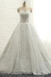 Robe de mariée Bustier Sablier Naturel taille Sans Manches Perle