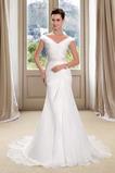 Robe de mariée Fourreau Chiffon Naturel taille Sans Manches Longue