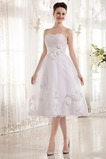 Robe de mariée Automne Sans Manches Chaussez Courte Sans bretelles