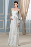 Robe de mariée Empire Sans Manches Décolleté Dans le Dos Sans bretelles