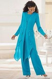 Robe de mère pantalon de costume Manche Longue Epurée Naturel taille