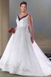 Robe de mariée Vintage Broderie semi-couverte A-ligne Grandes Tailles