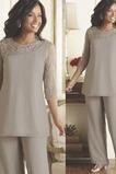 Robe de mère pantalon de costume Manche de T-shirt Haute Couvert