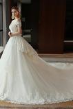 Robe de mariée Couvert de Dentelle Traîne Royal Salle a ligne