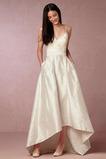 Robe de mariée Naturel taille Asymétrique Vintage Plage Taffetas