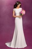 Robe de mariée Sirène Longue Milieu Naturel taille Manche Courte