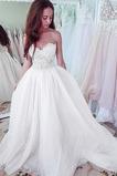 Robe de mariée Tulle Zip Couvert de Dentelle Naturel taille Romantique