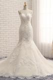 Robe de mariée Tulle Moderne Décolleté Dans le Dos Bretelles Spaghetti