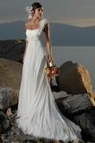 Robe de mariée Empire Fourreau plissé Plage fin Au Drapée Chiffon