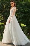 Robe de mariée Traîne Courte Désirable Tulle Printemps Dos nu