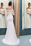 Robe de mariée Dentelle Longue Tissu Dentelle Naturel taille Haute Couvert