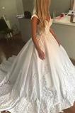 Robe de mariée Dos nu Traîne Royal Couvert de Dentelle De plein air
