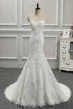 Robe de mariée Sirène Chaussez Naturel taille Couvert de Dentelle