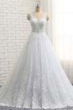Robe de mariée Soie Romantique Sans Manches Col en V Cathédrale