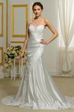Robe de mariée Sirène Longue Petites Tailles Lacet Appliques Epurée