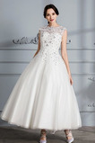 Robe de mariée a ligne Longueur Mollet De plein air Col Bateau