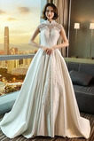 Robe de mariée Norme Salle Hiver Satin Longueur ras du Sol A-ligne