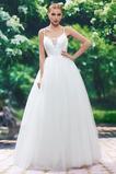 Robe de mariée Tulle De plein air Sexy Plissé Longueur ras du Sol