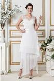 Robe de mariée Col en V Manquant Naturel taille Glissière Chiffon