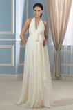 Robe de mariée À la masse Zip Plage Au Drapée Empire Été
