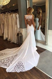 Robe de mariée Sirène Naturel taille Manquant Sans Manches Chic