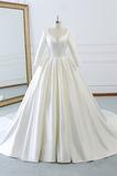 Robe de mariée Naturel taille Norme Plage Au Drapée Longue Automne