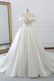 Robe de mariée Chaussez Satin Mancheron Appliquer Formelle Salle
