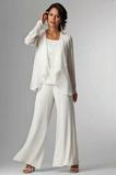 Robe de mère pantalon de costume Col Carré Dentelle Longueur Cheville