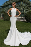 Robe de mariée Dos nu Appliquer Moderne Exquisite Traîne Moyenne