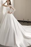 Robe de mariée Tulle Traîne Moyenne Naturel taille A-ligne Manche Longue