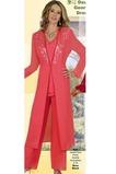 Robe de mère pantalon de costume Manche Longue Col en V Froid