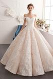 Robe de mariée Lacet Printemps Satin Naturel taille A-ligne Longueur ras du Sol