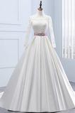 Robe de mariée Manche Longue Manche Aérienne Eglise Automne Cérémonial