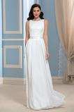 Robe de mariée Zip A-ligne Traîne Courte De plein air noble Manquant