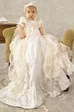 Robe de baptême Longue Princesse Automne Orné de Nœud à Boucle