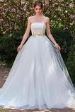 Robe de mariée Dos nu Sans bretelles Tulle Elégant Ample & Ornée