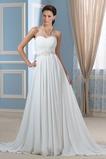Robe de mariée Fourreau pli De plein air Elégant A-ligne Manquant