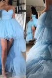 Robe de Bal Poire Naturel taille col coeur Zip Asymétrique Luxueux