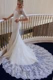 Robe de mariée Appliquer Couvert de Dentelle Salle Épaule Dégagée